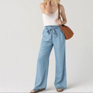 Thread & Supply Paperbag Chambray Wide Leg Pants M